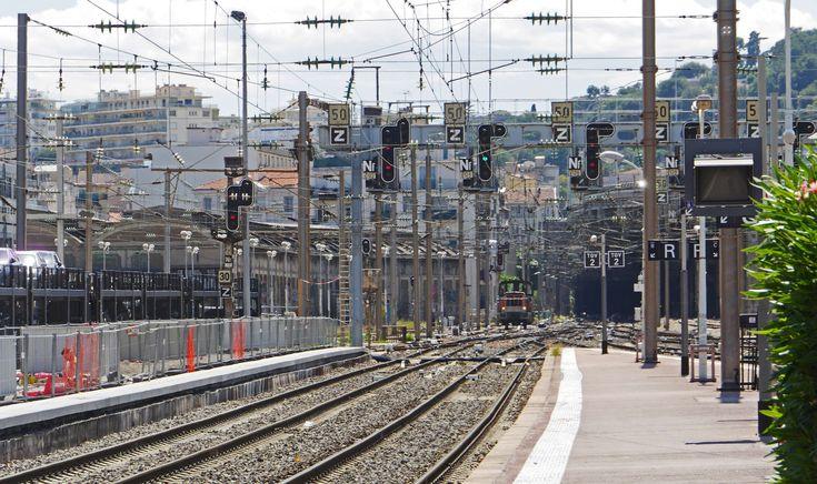 #catenary #diesel locomotive #exit west #france #gantry #gateway #gleise #hbf #mountain #nice #platform #rail traffic #railway #railway station #south of france #switcher #traffic routes #tunnel #urban landscape