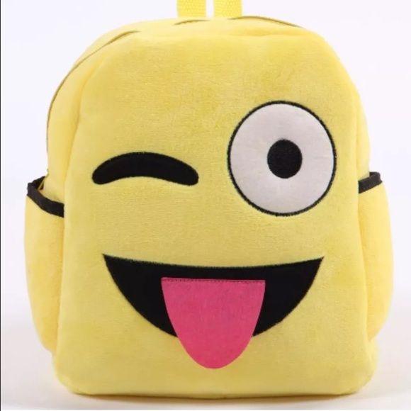 "Emoji Backpack (Smiling, Laughing, Winking) Emoji backpack. Brand new! 12"" tall. Bags Backpacks"
