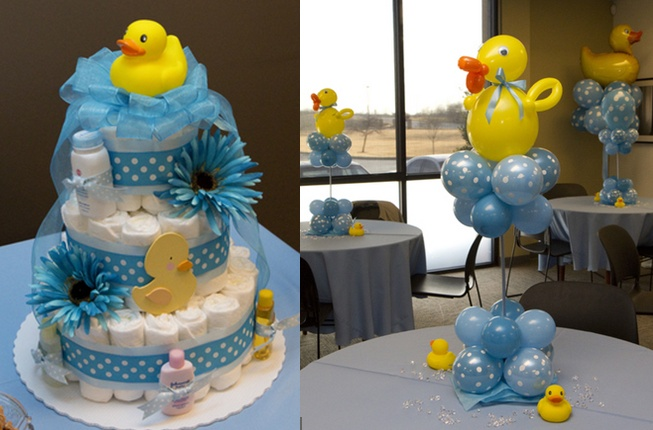 Rubber duckie baby shower ideas adorable diaper cake for Rubber ducky bathroom ideas