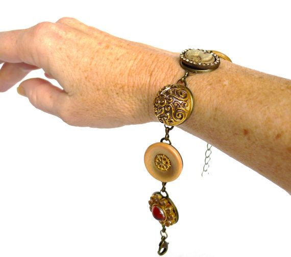 Armband Vintage Stil Gypsy Armband bronze gold Armband von LonasART