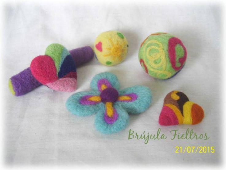 Fieltro agujado, Formas y colores