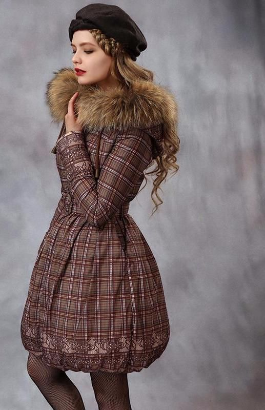 Plaid coat for women
