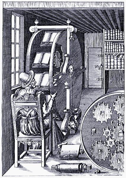 Ruota dei libri by Agostino Ramelli (1531 - 1608)