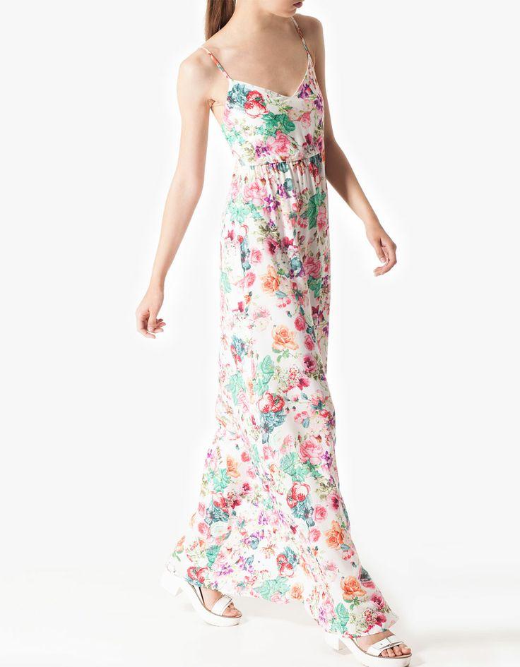 Vestido estampado stradivarius