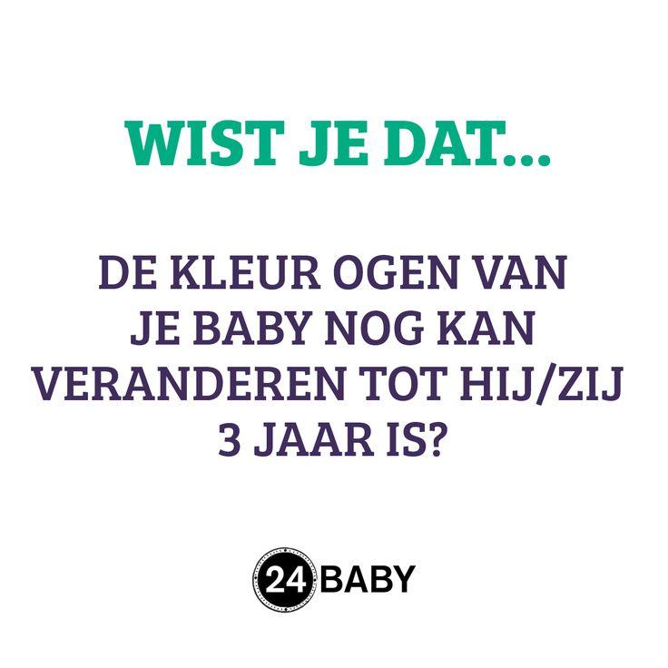 De meeste baby's worden geboren met blauwe ogen, maar die kleur verandert nog! #mama #baby #zwanger #zwangerschap www.24baby.nl