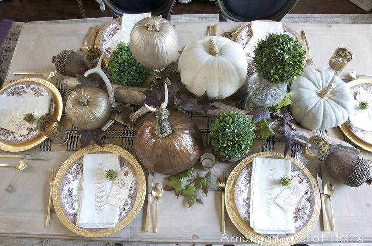 Amanda Carol at Home- Thanksgiving Table 2012