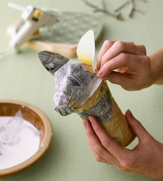 how to make a paper mache deer head