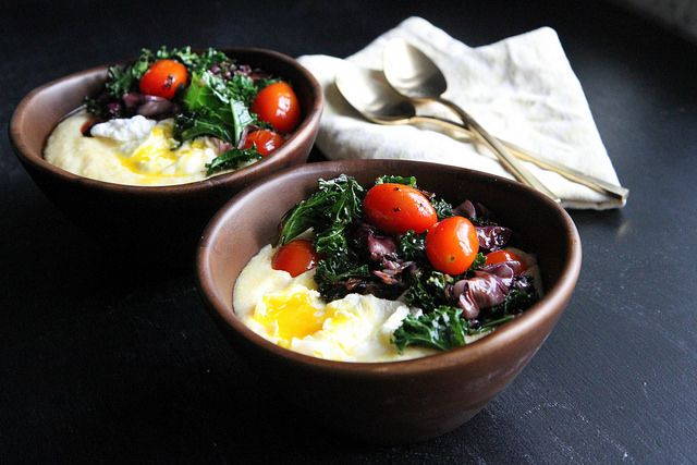 Polenta with Winter Salad and Poached Egg by Heather Christo, via ...