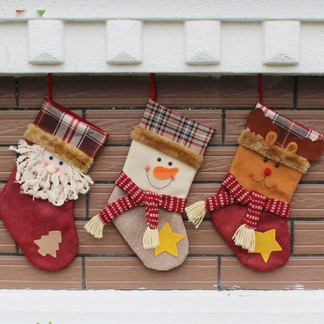 Стильный Рождественский Подарок Санта-Клаус, Снеговик Рождественские Носки Прекрасный Фестиваль Рождество Носки Украшение Партии Аксессуары