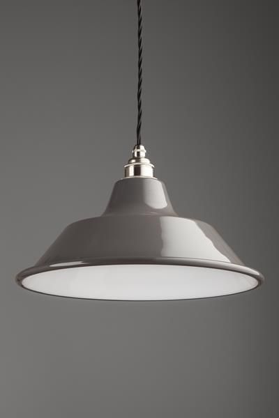 The Harris pendants are an update on the classic spun-steel shade. With an elegantly shaped shade.