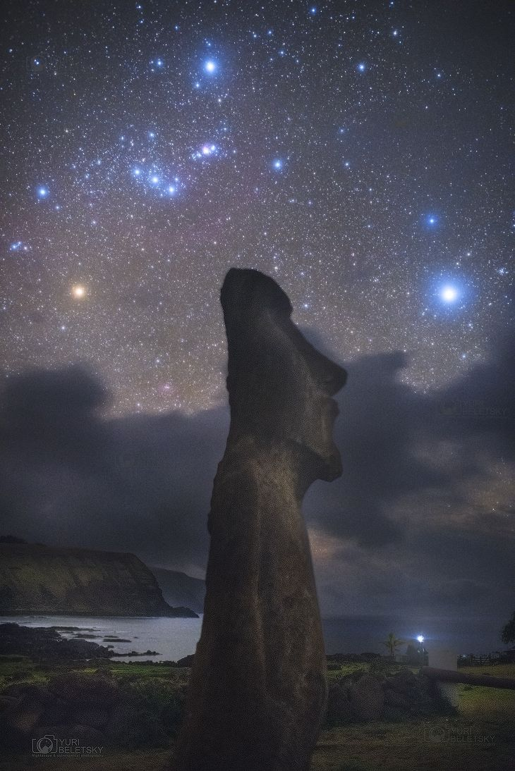Orion Above Easter Island Taken by Yuri Beletsky on October 5, 2016 @ Easter Island, Chile