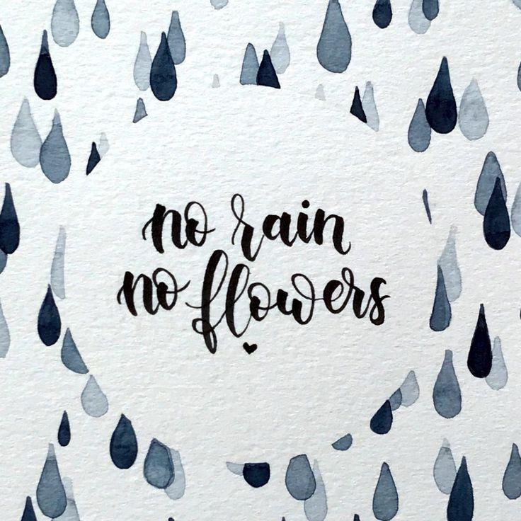 No rain, no flowers! Mit dem Regentropfen-Aquarell…