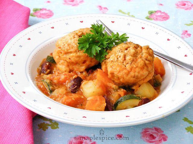 Smokey Red Bean Dumpling Stew - Vegan