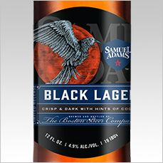 Samuel Adams  - Black Lager Boston Beer Company Boston, Massachusetts 4.9% ABV