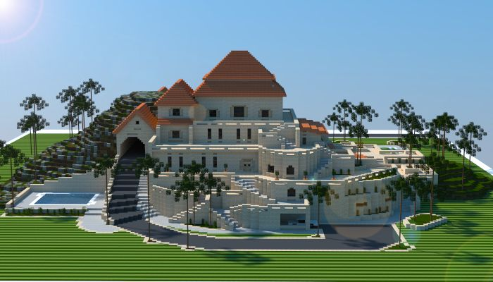 Sandstone Mansion i made in minecraft. Download link: http://www.minecraft-schematics.com/schematic/5664/