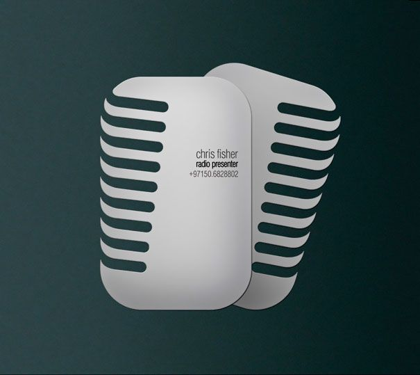 Chris Fisher: Microphone Shaped Business Card