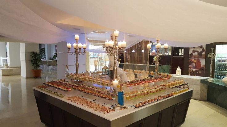 Buffet served in Mira Mare, the main restaurant of all-inclusive hotel Esperos Mare! The Esperos Palace & Mare Culinary team is offering every night a great dining experience with tastes and flavors that will satisfy even the most demanding guest!