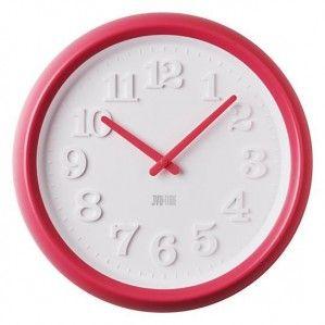 #Clock #JVD Plastikowy zegar ścienny TIME H102.3 duży- Jasněna Vláhová Design - różowy