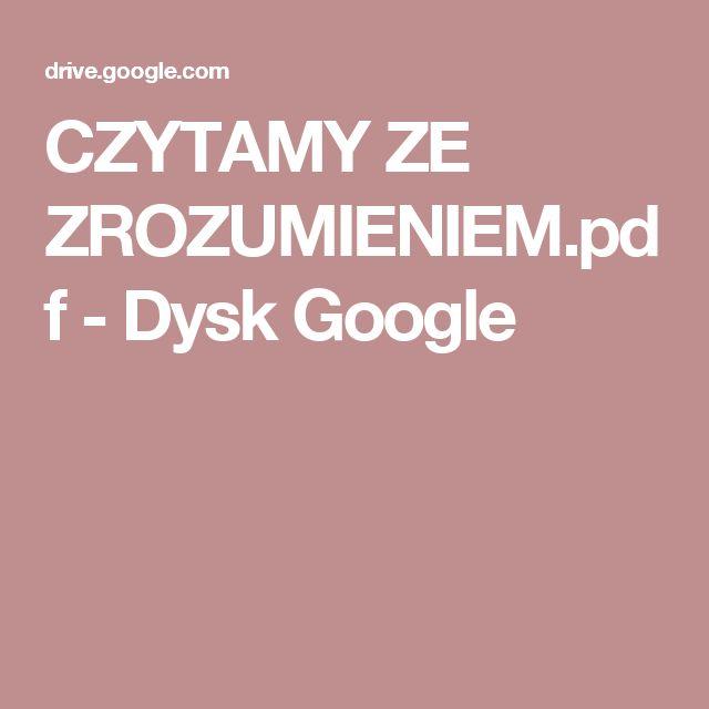 CZYTAMY ZE ZROZUMIENIEM.pdf - Dysk Google