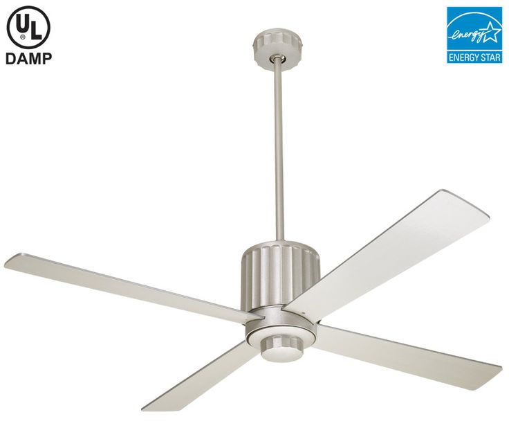 Modern Fan FLU-TN Flute 52 Inch Textured Nickel Ceiling Fan  $384