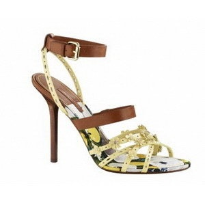 NWB Louis Vuttion Yellow Floral Strappy Heels Receipt Included | eBay