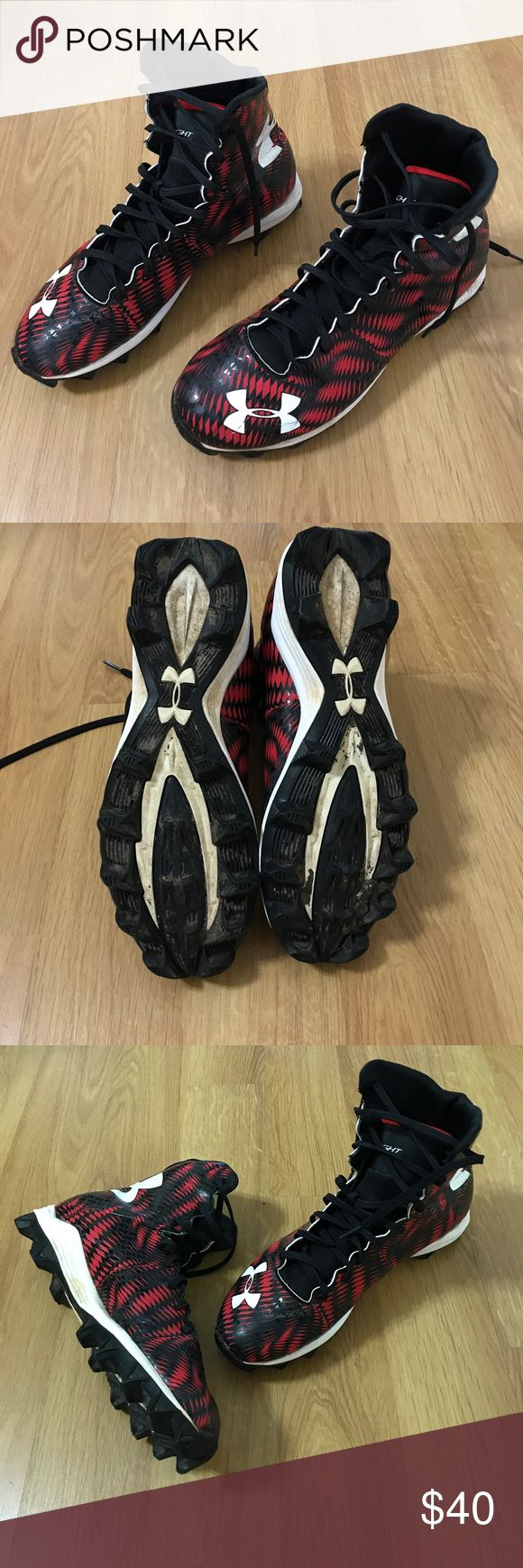 UNder Armour Football Cleats 🏈 Excellent pre-owned condition. Worn only 1 season. High top Highlight. Under Armour Shoes Athletic Shoes