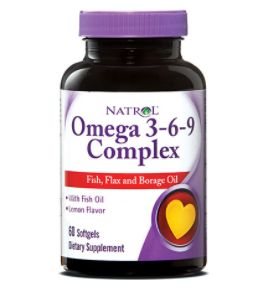 Natrol Omega 3-6-9 Complex provides a potent blend of Omega 3, Omega 6 and Omega 9 complex fatty acids needed for metabolic regulation and structural support.
