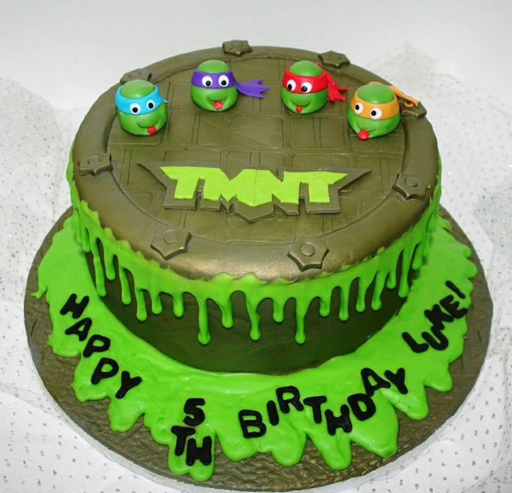 TMNT Cake  Cake Decorating  Pinterest  Ninja turtle cakes, Turtles ...