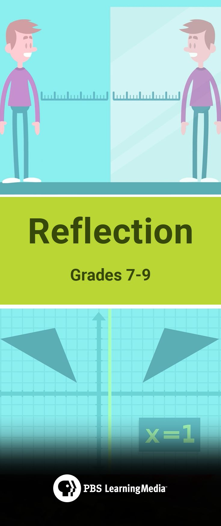 In this video, middle school geometry students learn about reflection, one type of movement for geometric shapes.