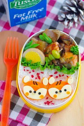 cuteobento: carrot squirrels bento