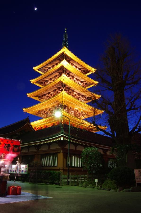Pagoda at Senso Temple, Asakusa, Tokyo