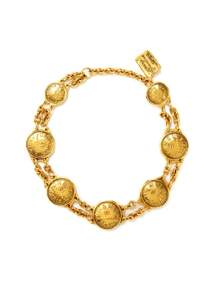 Chanel Coin Double Strand Necklace