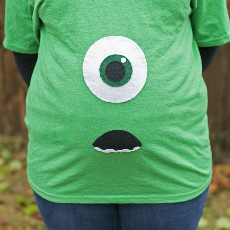 Mike Wazowski Maternity Costume DIY Printable I totally want this!