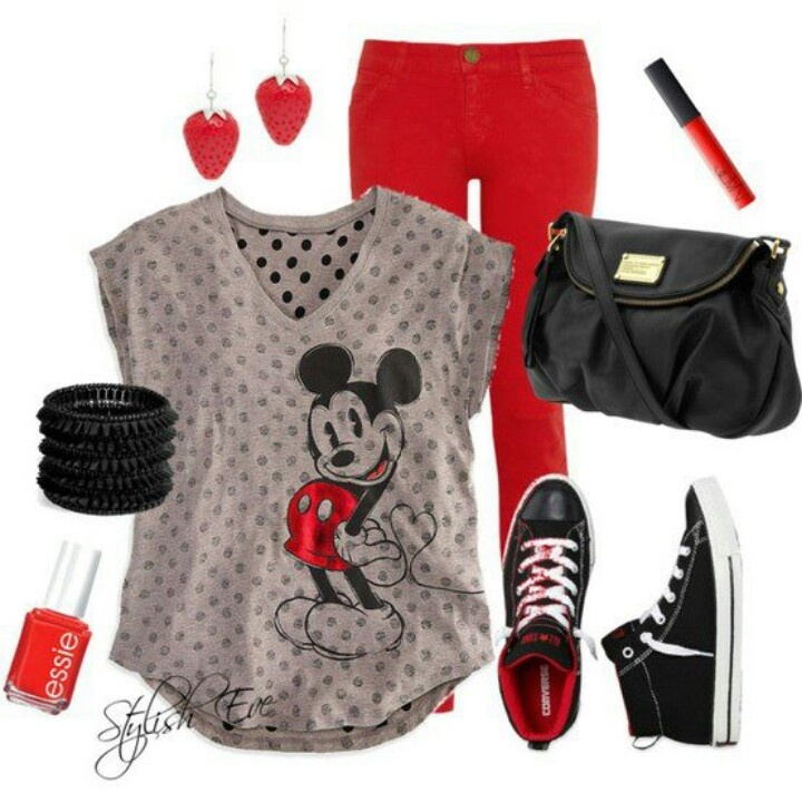 Mickey red and black