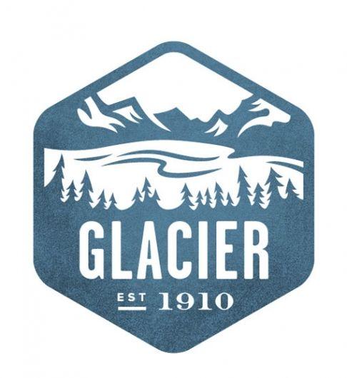 The National, Logo Design, Valerie Jars, Parks Stamps, National Geographic, Glacier Park, Glacier National Parks, Beer Labels, Logo Types