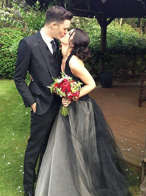 Josh Beech and Shenae Grimes are married..I LOVE her wedding dress!!! Never thought I'd say that about a black wedding dress.