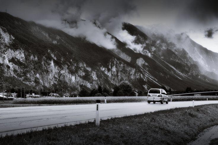 bwstock.photography  //  #rainy #Tyrol #car #road