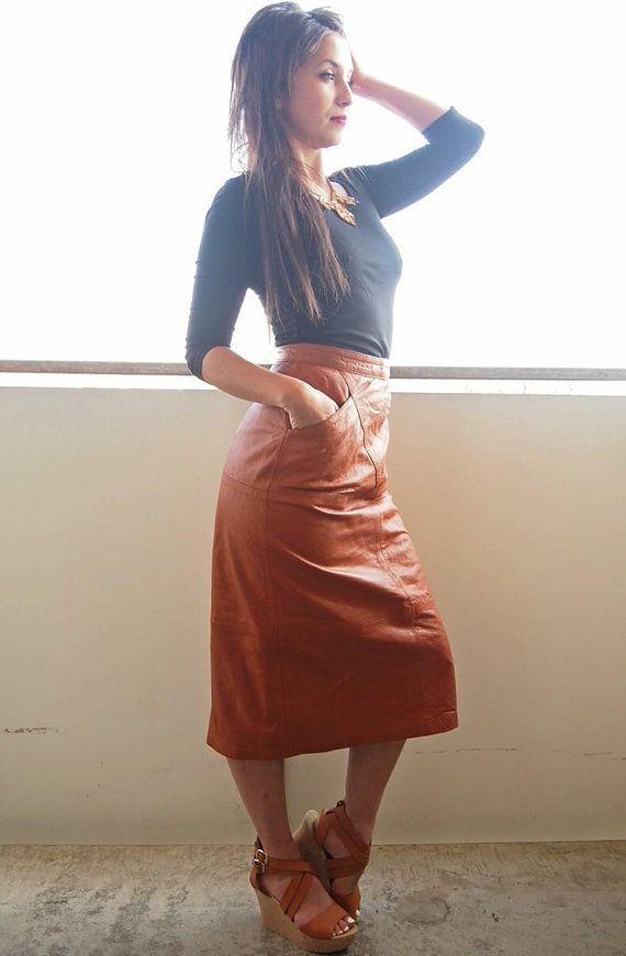 handmade leather skirt