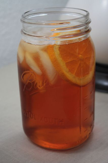 mango orange iced tea (she used Trader Joes - can also use Lipton brand)