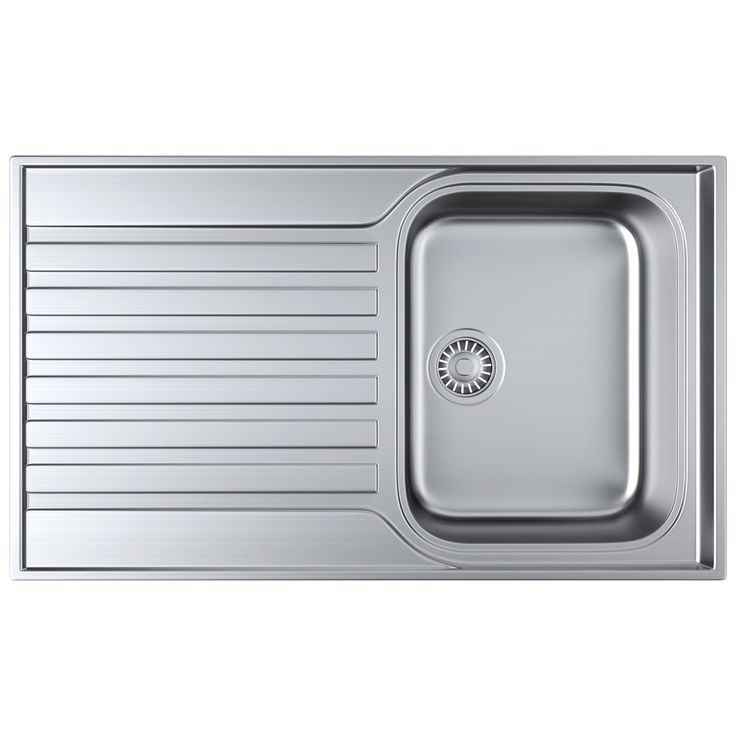 Franke Ascona Inset Sink S/Steel 1 Bowl Reversible 860 x 510mm - suggested sink