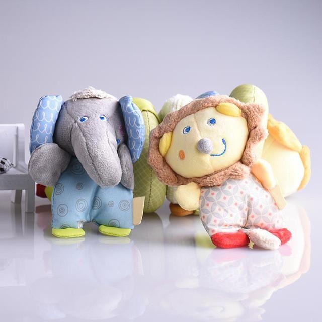 Baby Soft Plush Infant Toys Stroller Cot Bed Hanging Crib giraffe Sheep Robot Lathe Rock Teether Newborn Kids Baby Rattles Xmas