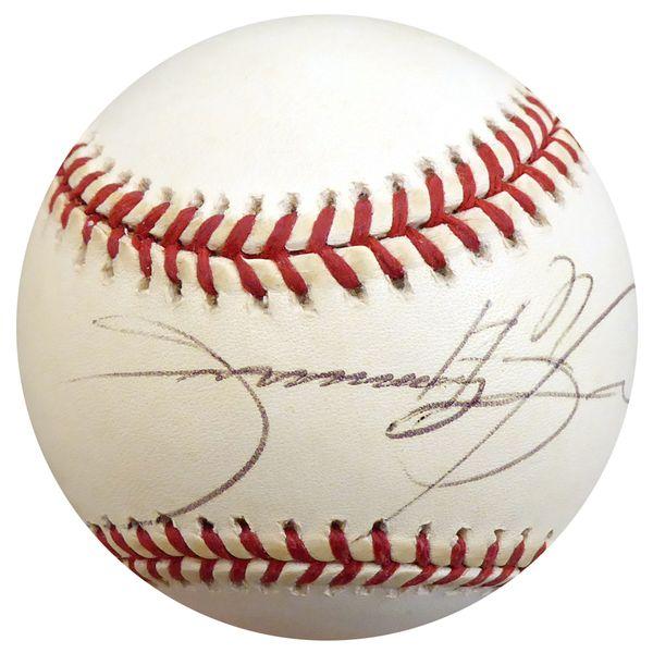 Sammy Sosa Autographed Official MLB Baseball Chicago Cubs Beckett BAS #D12719