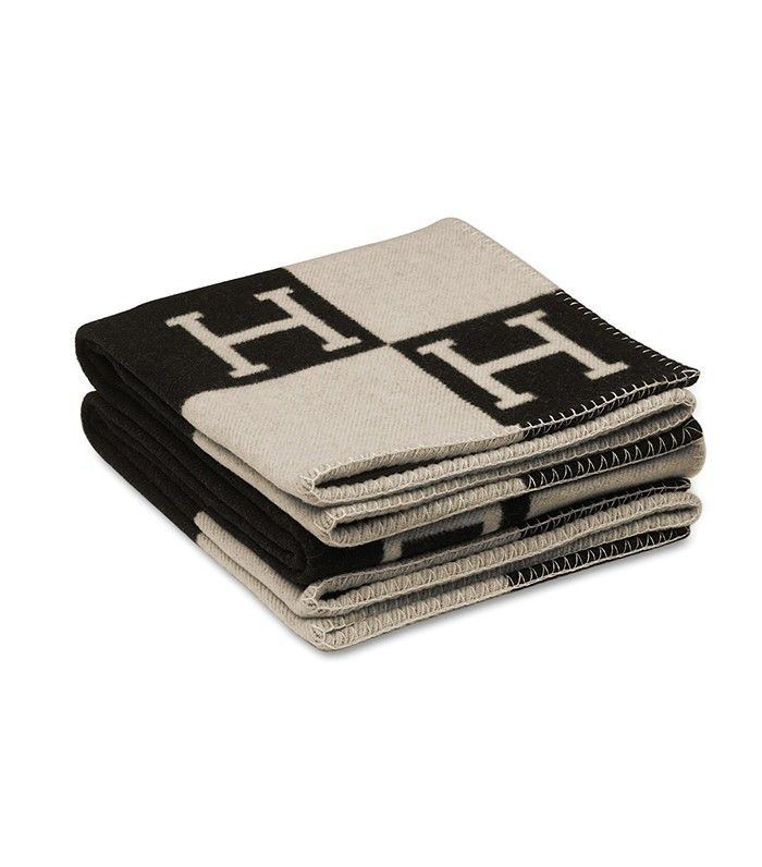 Hermes Avalon Blanket in Ecru/Black   The It Décor Item That's in Every Fashion Lover's Home via @MyDomaine