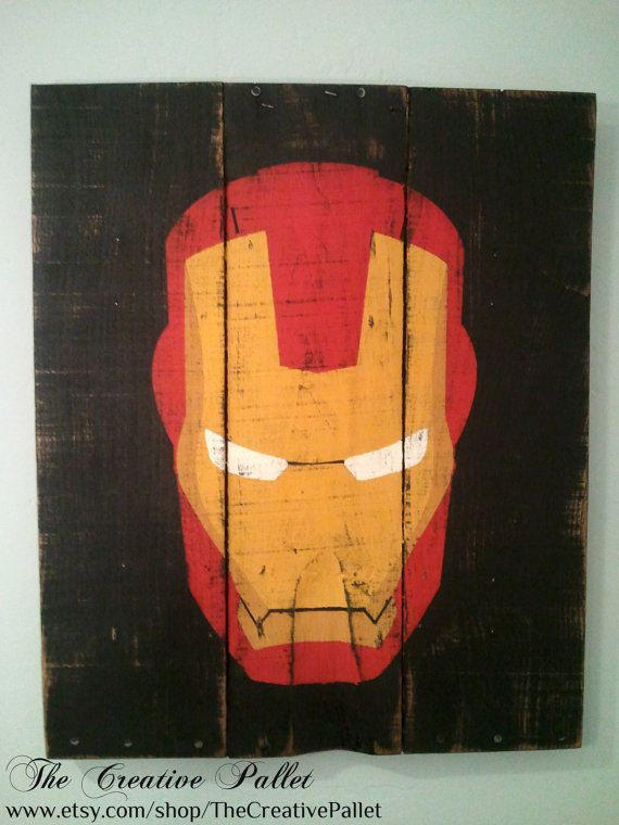 Ironman Vintage Wood Pallet Sign by TheCreativePallet on Etsy, $45.00