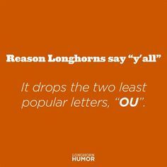 Makes sense, doesn't it? #RedRiverRivalry #HookEm #Longhorns