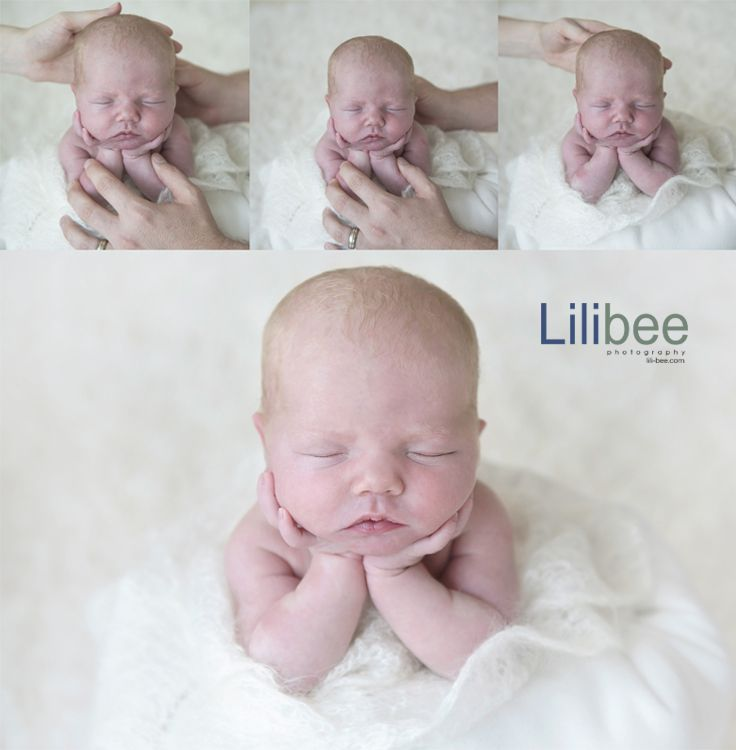 Behind the scenes doing froggy pose newborn photography dubai lilibee photography