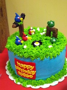 This cake is only ONE of the components of this Angry Bird birthday party!