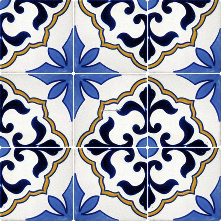 Mexican Tile Designs Stencil Mexican Talavera Frost