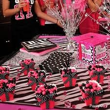 Hot Pink Black And White Party Decorations Decoration For Home