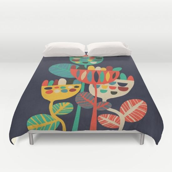 vintage, whimsical looking rustic flower in geometric abstract shapes and retro cheerful color.